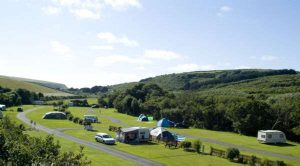 Countryside campsite cornwall